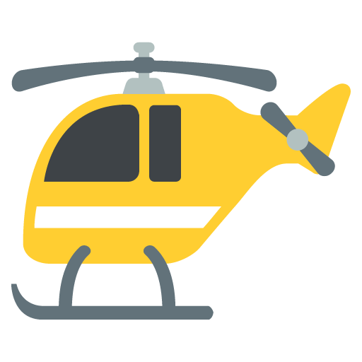 Vehicle Helicopter Yellow
